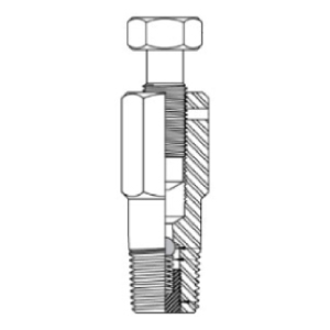 free flow packing injection fitting