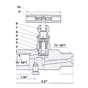 block and bleed gauge valve drawing