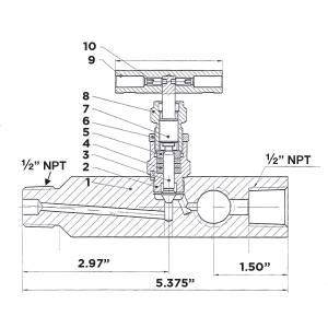 multi-port gauge valve drawing