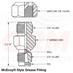 McEvoy Style Grease Fitting