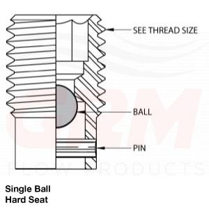 grm single ball, hard seat fittings