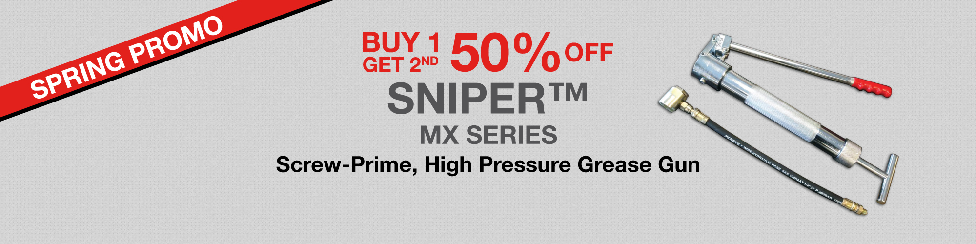 spring promo sniper buy 1 get 2nd 50% off