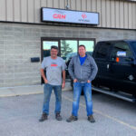 Stu & Greg in front of GRM Grande Prairie