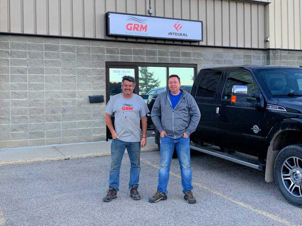 Stu & Greg in front of GRM Grande Prairie